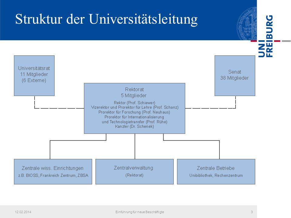 Struktur der Universitätsleitung