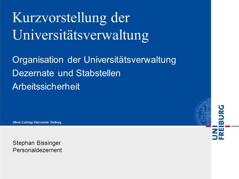 Kurzvorstellung der Universitätsverwaltung