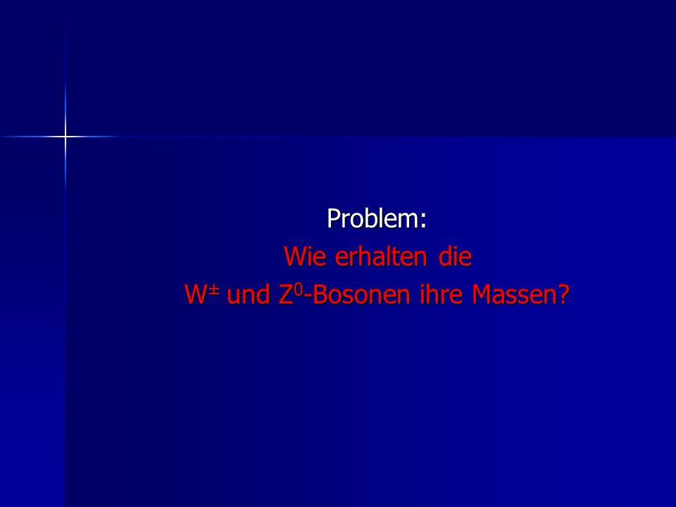 W± und Z0-Bosonen ihre Massen