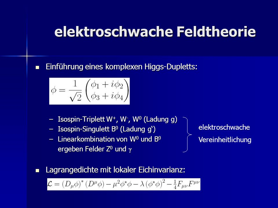 elektroschwache Feldtheorie