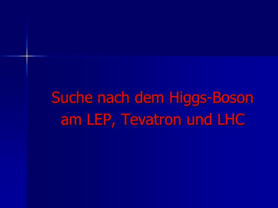 Suche nach dem Higgs-Boson