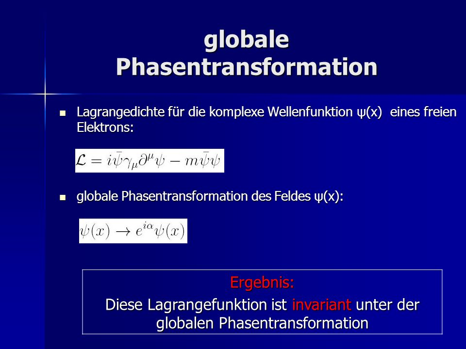 globale Phasentransformation
