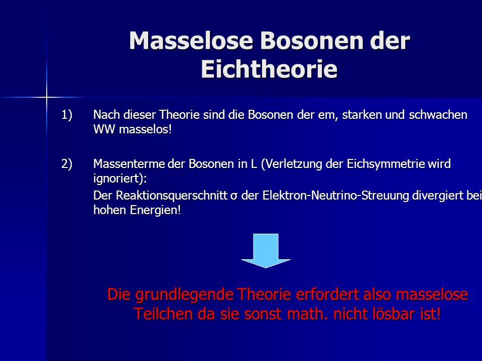 Masselose Bosonen der Eichtheorie
