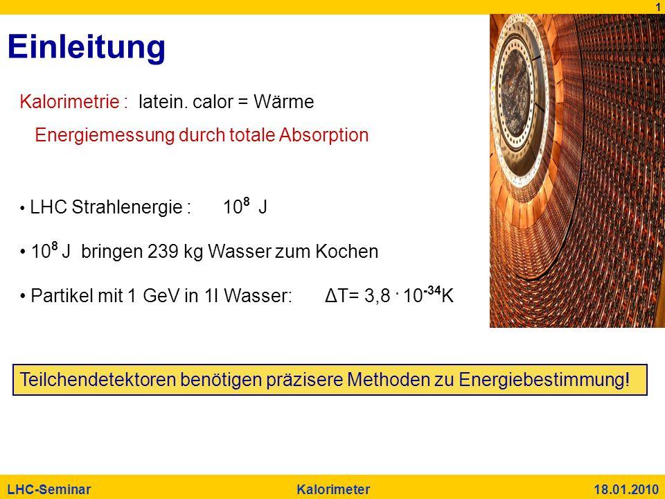 Einleitung Kalorimetrie : latein. calor = Wärme