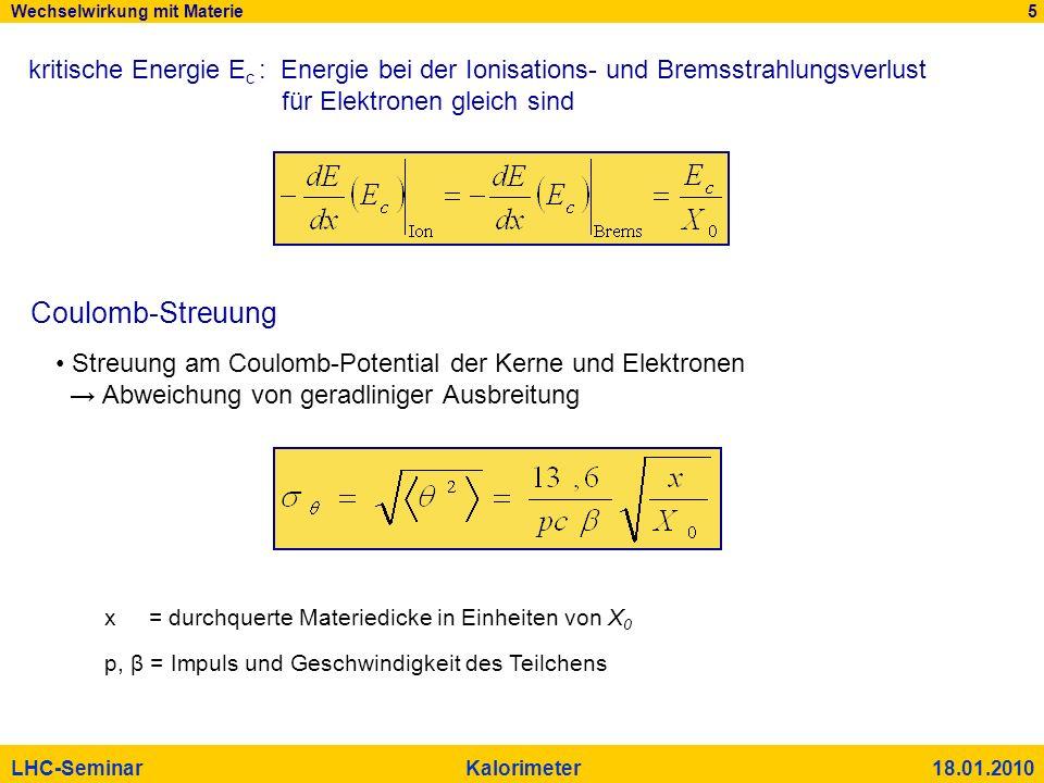 Wechselwirkung mit Materie 5