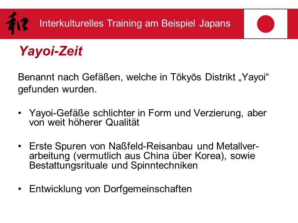 """Yayoi-Zeit Benannt nach Gefäßen, welche in Tōkyōs Distrikt """"Yayoi"""