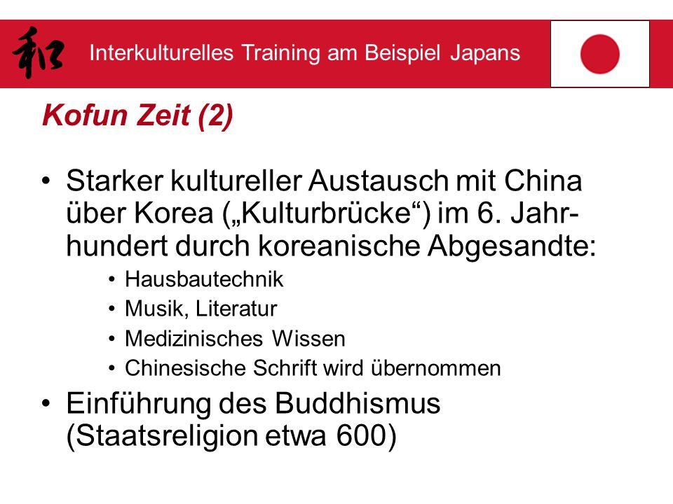 Einführung des Buddhismus (Staatsreligion etwa 600)