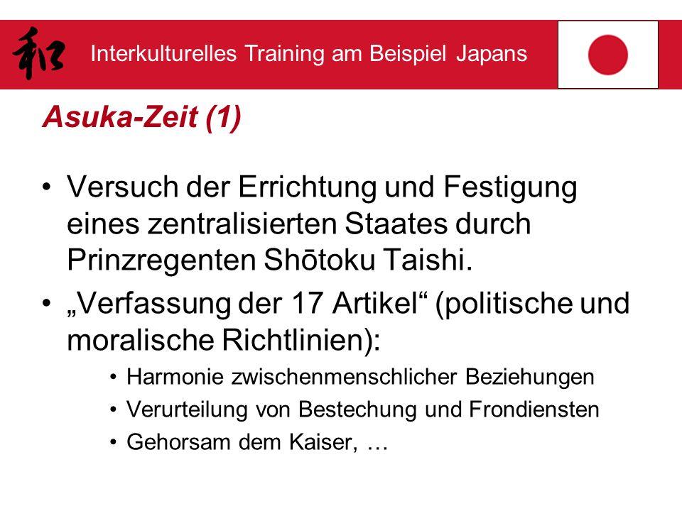 """""""Verfassung der 17 Artikel (politische und moralische Richtlinien):"""
