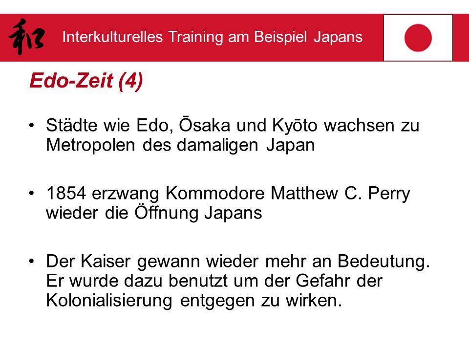 Edo-Zeit (4) Städte wie Edo, Ōsaka und Kyōto wachsen zu Metropolen des damaligen Japan.