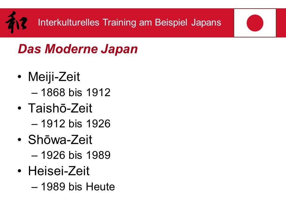 Das Moderne Japan Meiji-Zeit Taishō-Zeit Shōwa-Zeit Heisei-Zeit