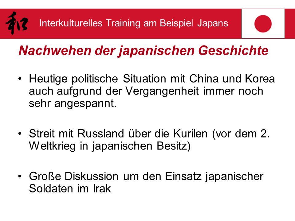 Nachwehen der japanischen Geschichte