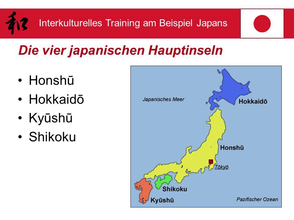 Die vier japanischen Hauptinseln