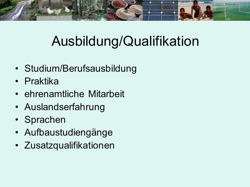 Ausbildung/Qualifikation