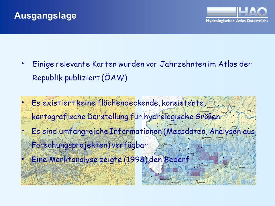 Ausgangslage Einige relevante Karten wurden vor Jahrzehnten im Atlas der Republik publiziert (ÖAW)