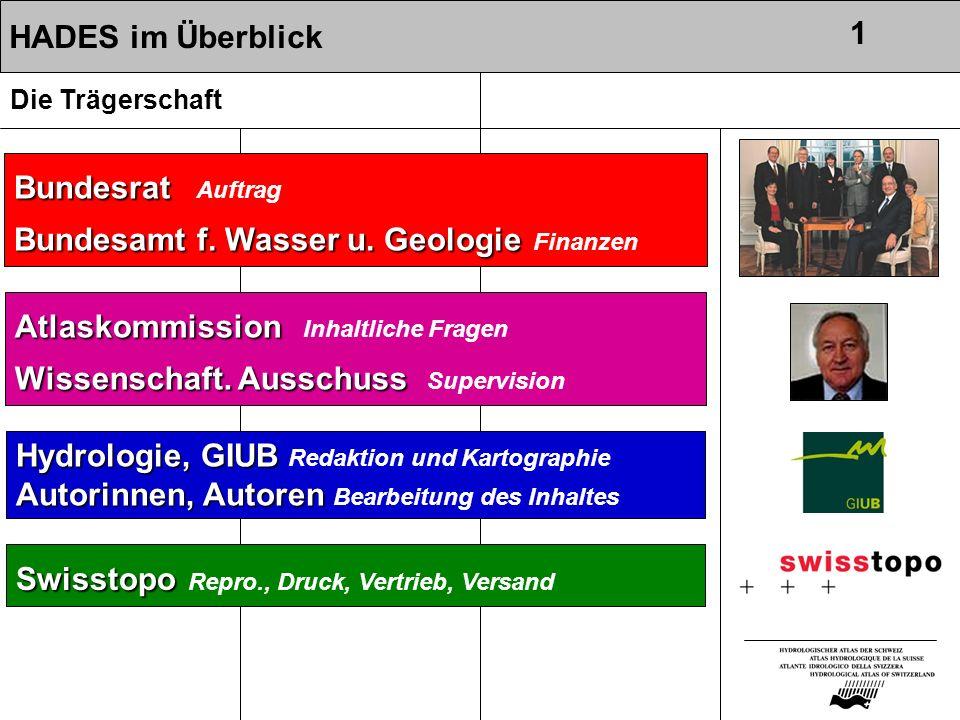 Bundesrat Auftrag Bundesamt f. Wasser u. Geologie Finanzen