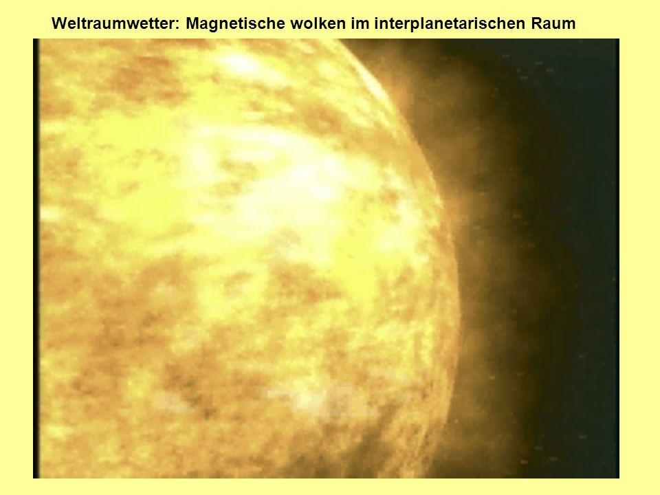 Weltraumwetter: Magnetische wolken im interplanetarischen Raum