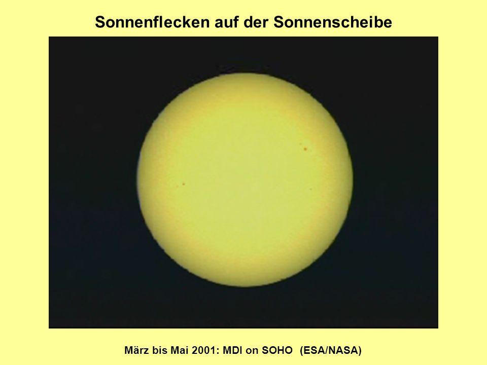 Sonnenflecken auf der Sonnenscheibe