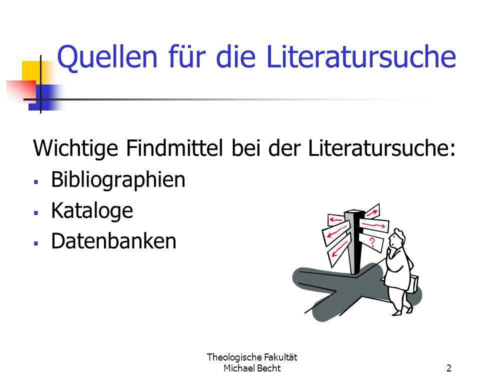 Quellen für die Literatursuche