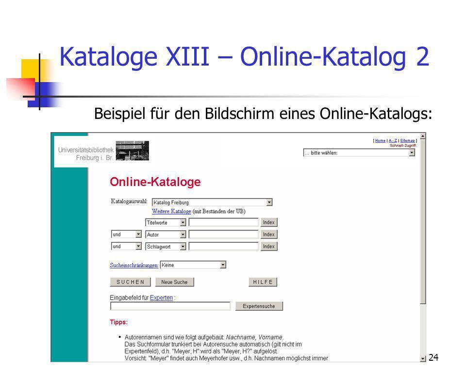 Kataloge XIII – Online-Katalog 2