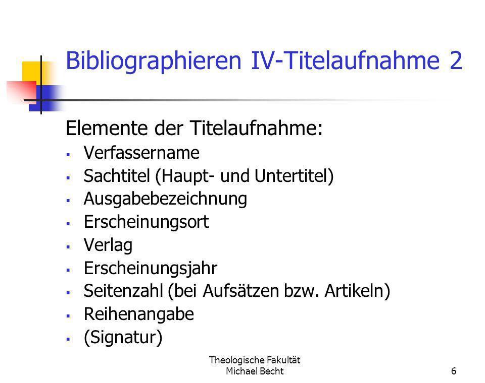 Bibliographieren IV-Titelaufnahme 2