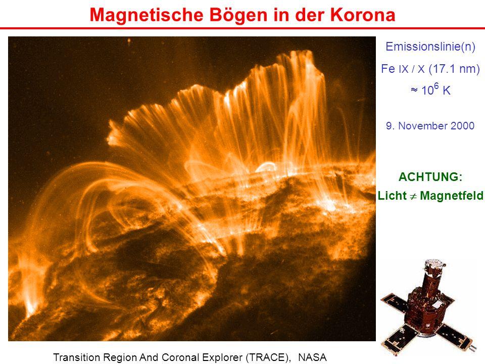 Magnetische Bögen in der Korona