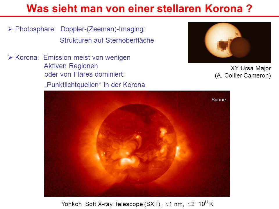 Was sieht man von einer stellaren Korona