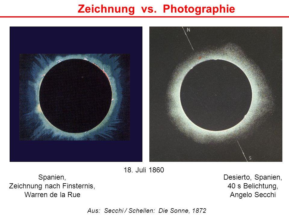 Zeichnung vs. Photographie