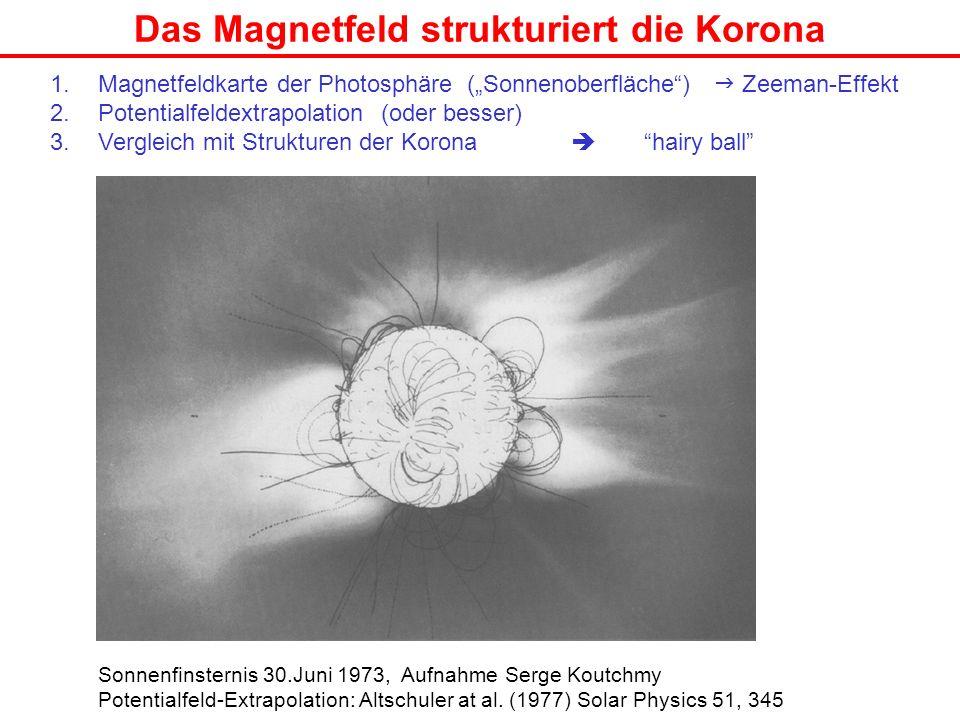 Das Magnetfeld strukturiert die Korona