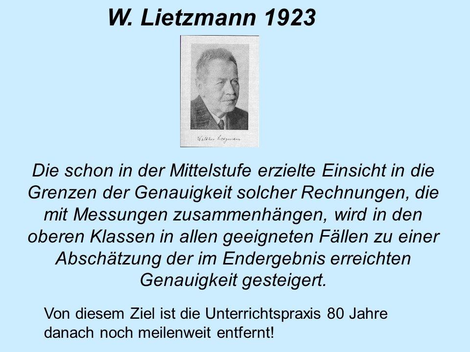 W. Lietzmann 1923