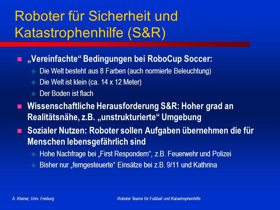 Roboter für Sicherheit und Katastrophenhilfe (S&R)