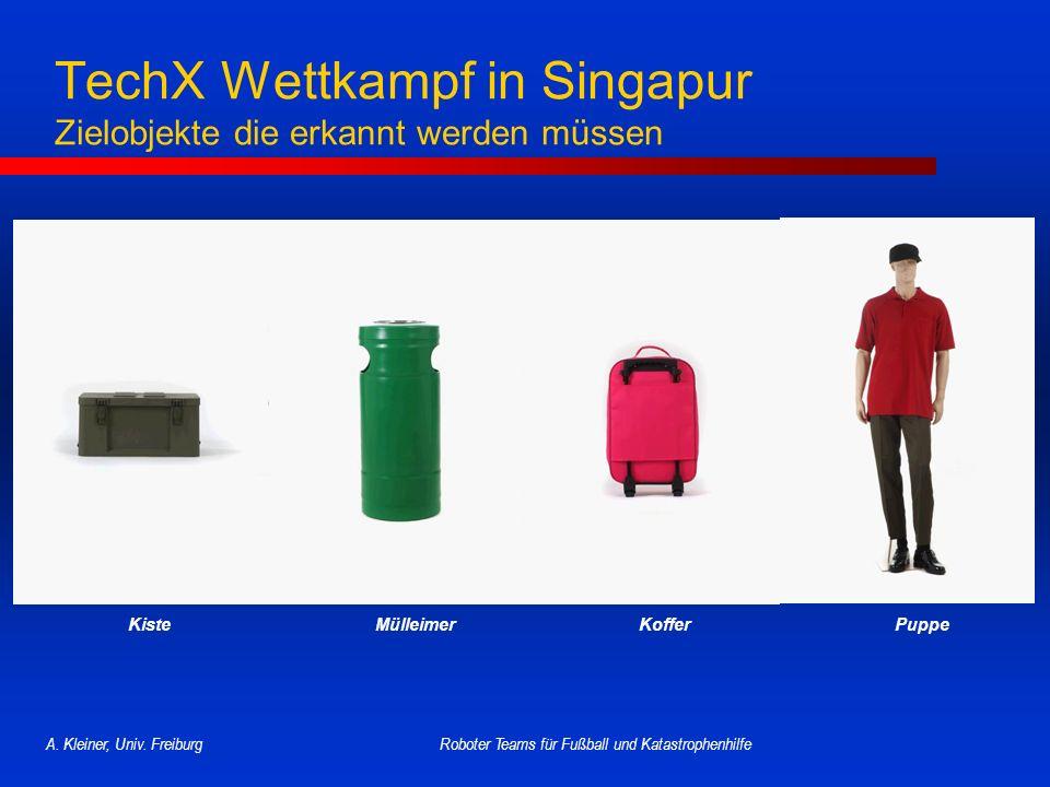 TechX Wettkampf in Singapur Zielobjekte die erkannt werden müssen