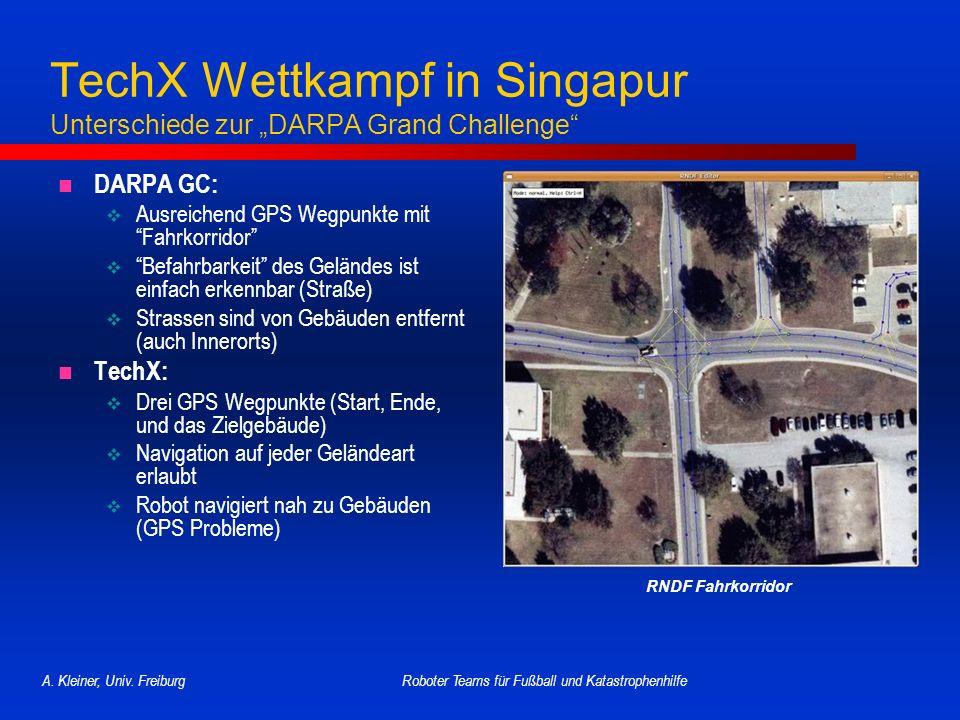 """TechX Wettkampf in Singapur Unterschiede zur """"DARPA Grand Challenge"""