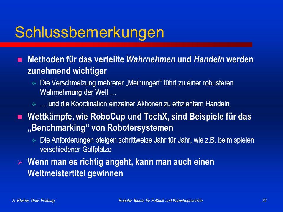 Roboter Teams für Fußball und Katastrophenhilfe