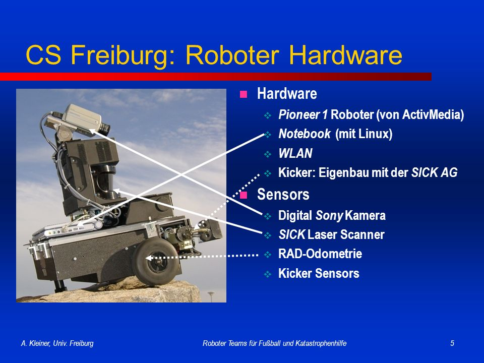 CS Freiburg: Roboter Hardware