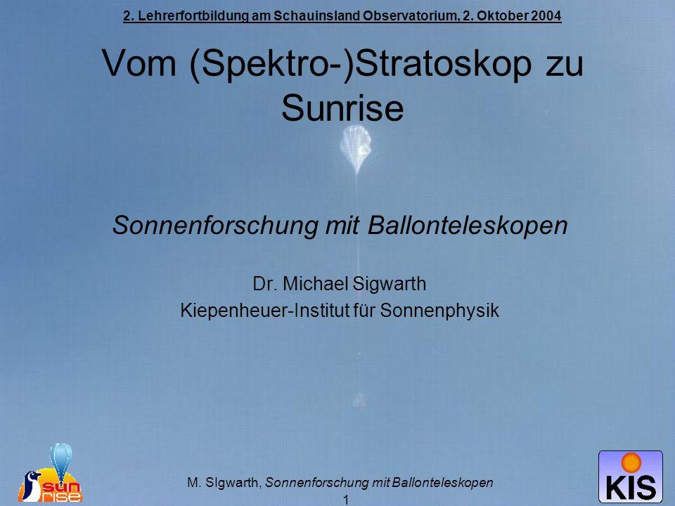 Sonnenforschung mit Ballonteleskopen