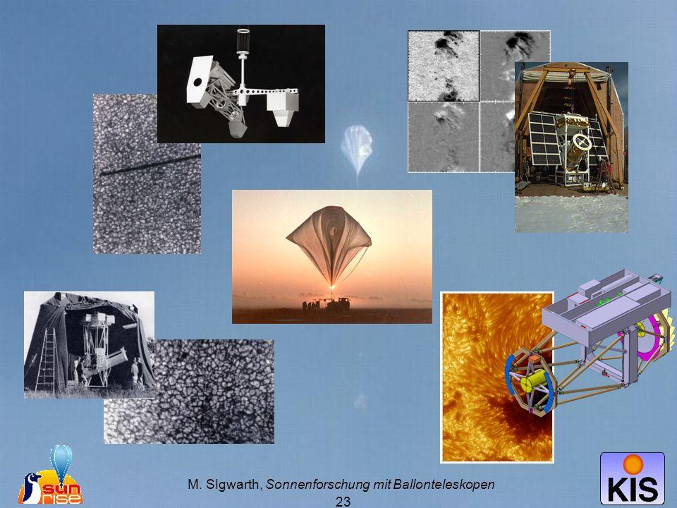 M. SIgwarth, Sonnenforschung mit Ballonteleskopen
