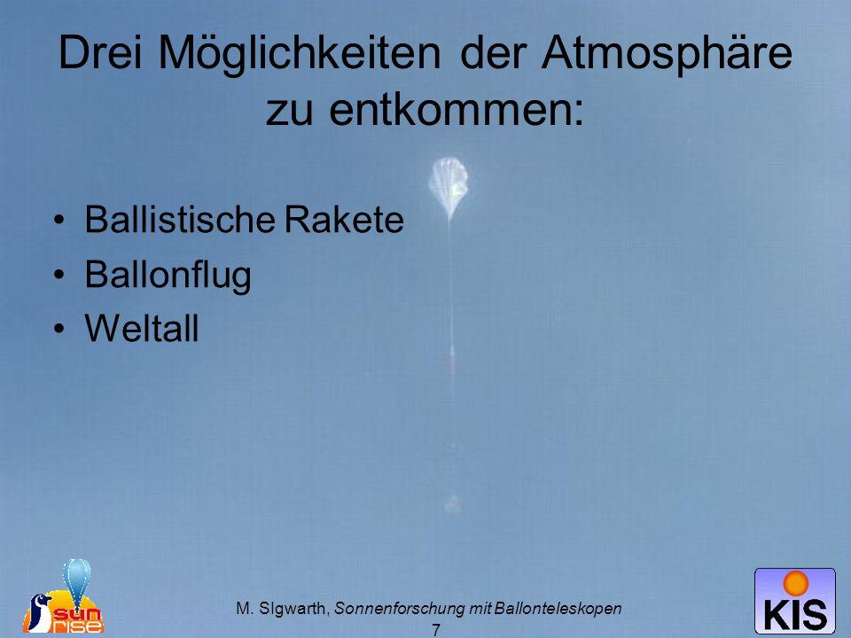 Drei Möglichkeiten der Atmosphäre zu entkommen: