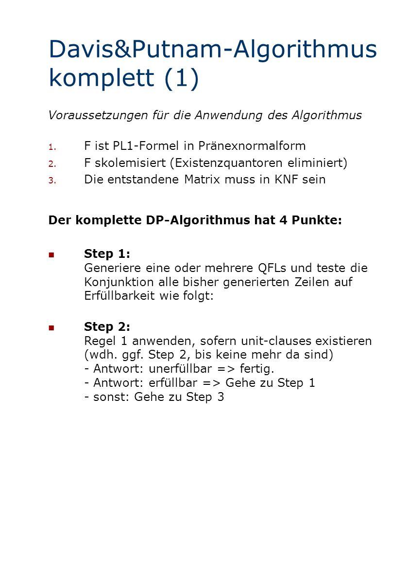 Davis&Putnam-Algorithmus komplett (1)