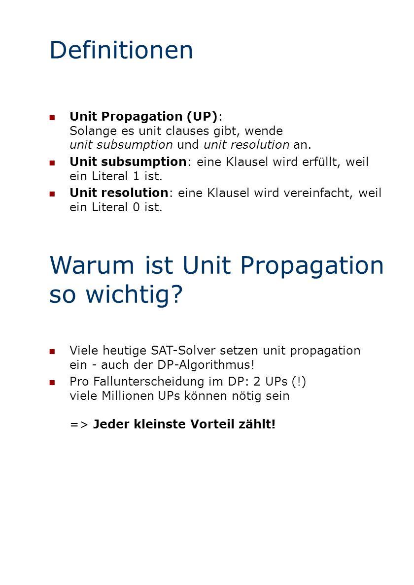 Warum ist Unit Propagation so wichtig