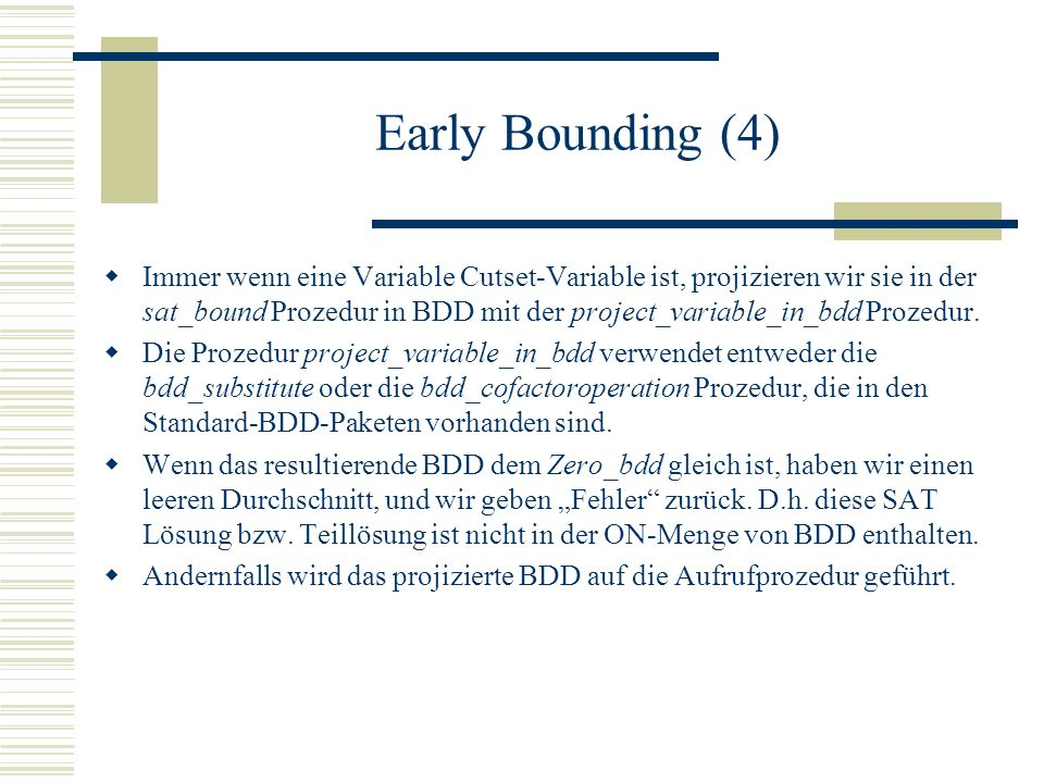 Early Bounding (4)