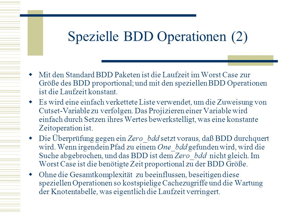 Spezielle BDD Operationen (2)