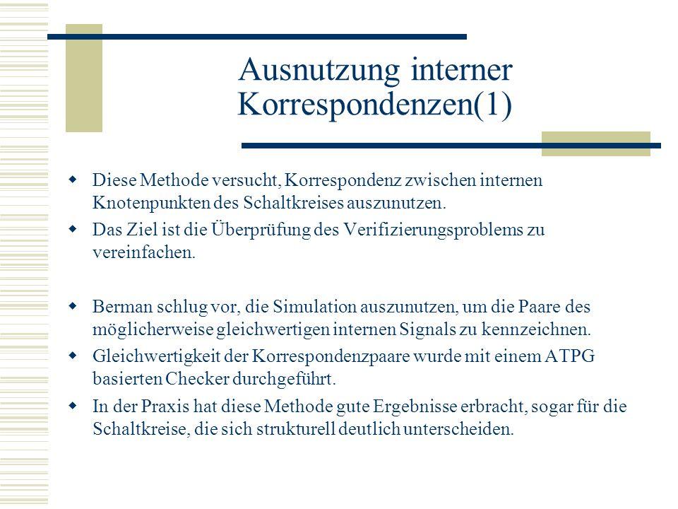 Ausnutzung interner Korrespondenzen(1)