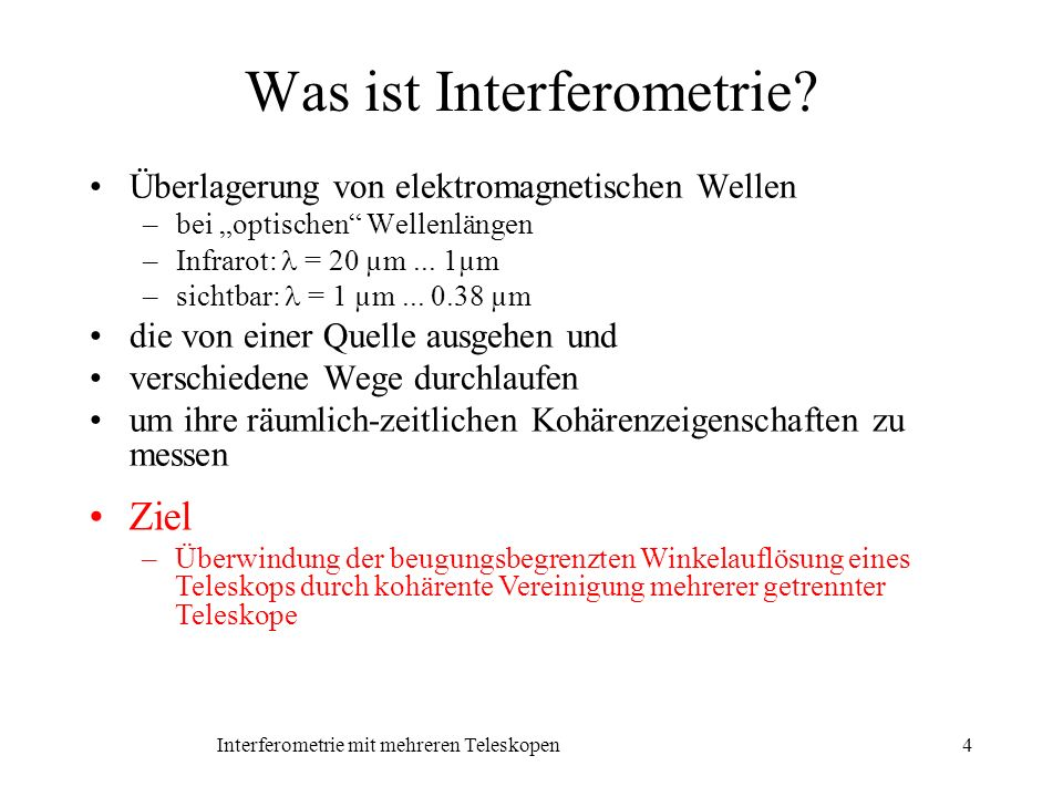 Was ist Interferometrie