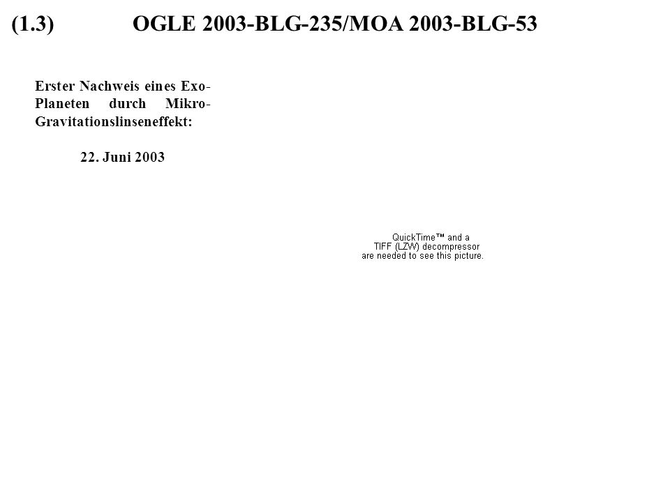 (1.3) OGLE 2003-BLG-235/MOA 2003-BLG-53