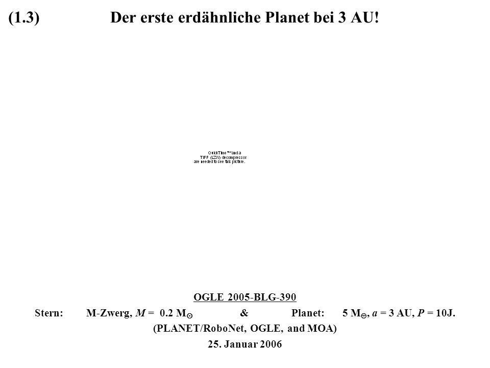 Der erste erdähnliche Planet bei 3 AU!
