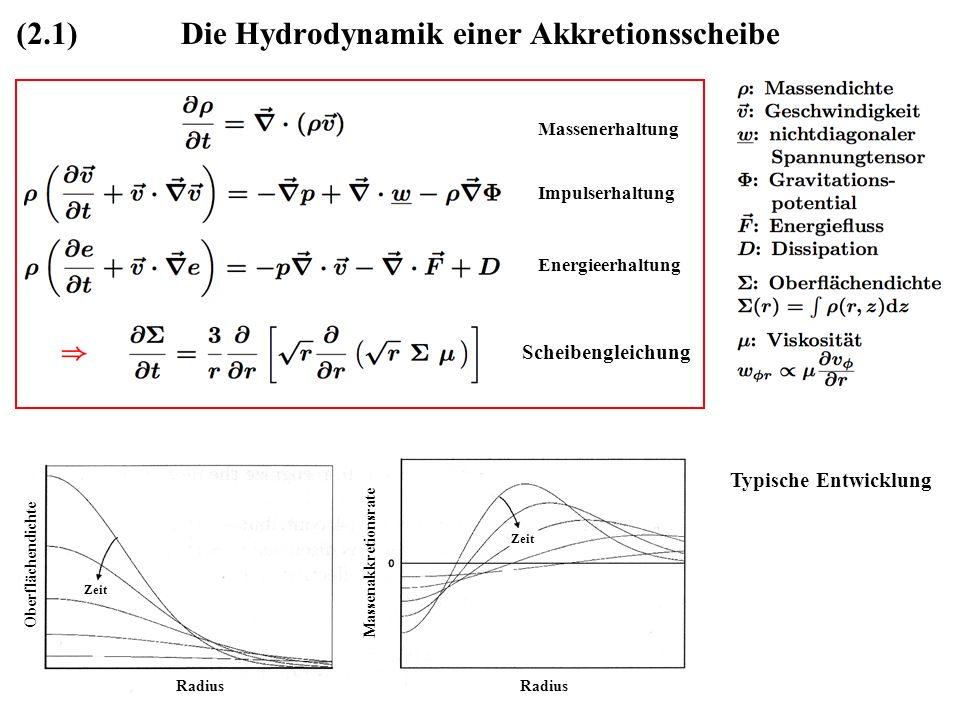 Die Hydrodynamik einer Akkretionsscheibe