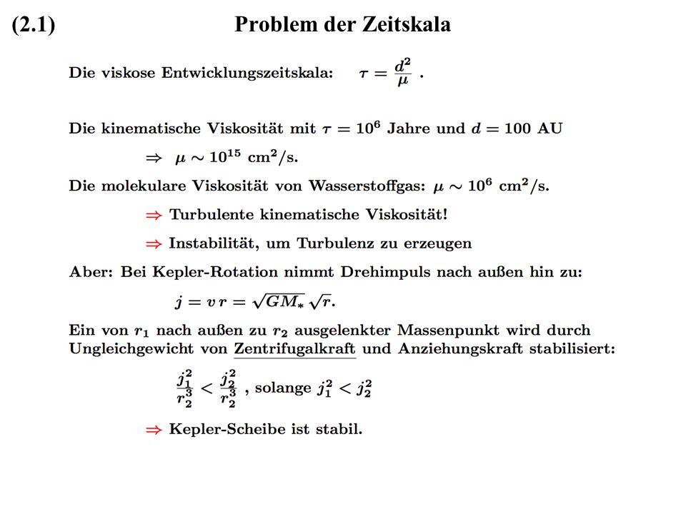 (2.1) Problem der Zeitskala