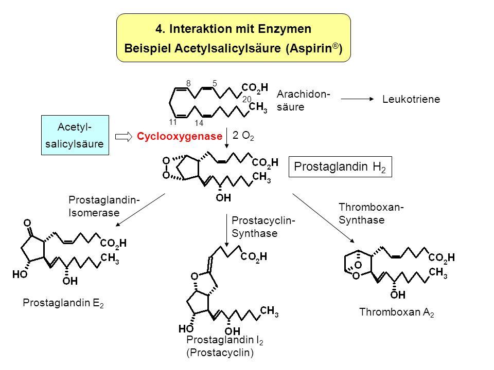 4. Interaktion mit Enzymen Beispiel Acetylsalicylsäure (Aspirin®)