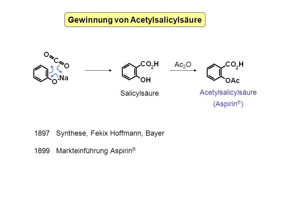 Gewinnung von Acetylsalicylsäure