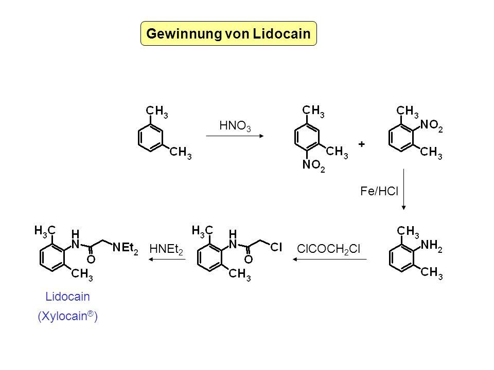 Gewinnung von Lidocain